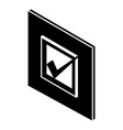 voted sign icon simple style vector image