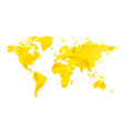 yellow star blank world map vector image vector image