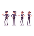 young police officers working vector image vector image