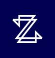 z initial logo vector image