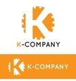 minimalistic orange K letter logotype vector image