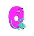 cartoon character monster letter q vector image