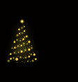 abstract christmas tree consisting of golden vector image