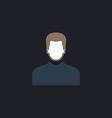 Male avatar computer symbol vector image