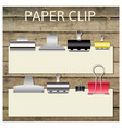 Set of different paper clips for your design vector image