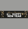 2019 new year black background with gold vector image vector image