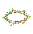 A Crown of Thorns with Fresh Leaves vector image