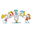 ABC letters kids education vector image vector image