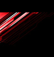 abstract red metallic line cyber on black vector image vector image