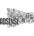 adsense rip text word cloud concept vector image vector image