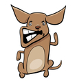 angry puppy cartoon character vector image