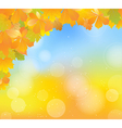 autumn blue corner vector image vector image