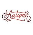 autumn lettering hand written typography vector image vector image