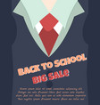 back to school sale poster with text vector image