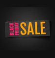 banner for black friday vector image vector image