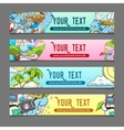 Banner summer theme vector image vector image