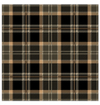 Black Seamless Tartan Plaid Design vector image vector image