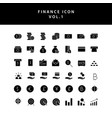 business and finance icon glyph style set vol 1
