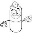 Cartoon Pill Capsule Pointing vector image