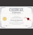 certificate or diploma retro design collection 6 vector image vector image