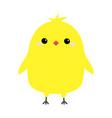 chicken bird happy easter cute cartoon funny vector image vector image