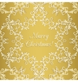 Christmas Greeting card with snowflake gold vector image vector image
