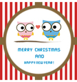 Christmas greeting card53 vector image