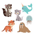 collection of animal species vector image vector image