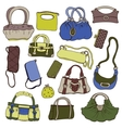 Collection womens handbags vector image