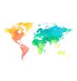 color circles world map pattern vector image