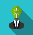 concept lamp new idea as out head vector image vector image