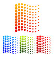 dotted waving lines vector image vector image