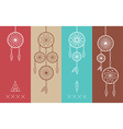 Dream catcher boho flat line icons set vector image vector image