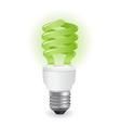 ecological light bulbs icon vector image vector image