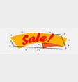 flat style orange trendy sign banner label design vector image vector image