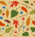 floral colorful vintage seamless pattern vector image