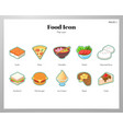 food icon flat pack vector image