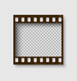 frame 35 mm filmstrip empty blanck photo vector image