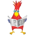 Funny Parrot News vector image vector image