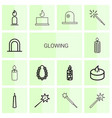 glowing icons vector image vector image