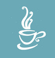hand drawn doodle cup of coffee vector image vector image