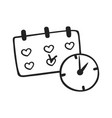 hand drawn icon of schedule vector image vector image