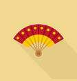 hand fan icon flat style vector image