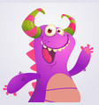 happy cartoon violet dragon vector image
