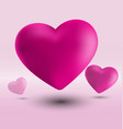 hearts in pink background vector image