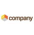home furniture company logo vector image vector image