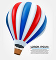 hot air balloon in flight background vector image