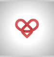 infinity love or eternal love red image icon and vector image vector image