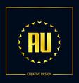 initial letter au logo template design vector image vector image
