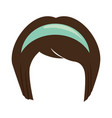 japanese hairstyle traditional vector image vector image
